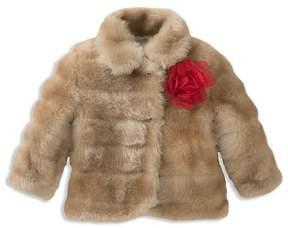 Kate Spade Girls' Faux-Mink Coat - Baby