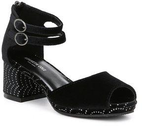 Kenneth Cole New York Girls' Elena Velvet Peep Dress Shoes