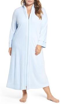 Carole Hochman Plus Size Women's Velour Zip Robe