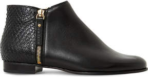 Dune Pander textured leather ankle boots