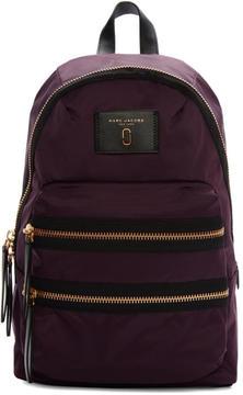 Marc Jacobs Purple Nylon Biker Backpack - PURPLE - STYLE