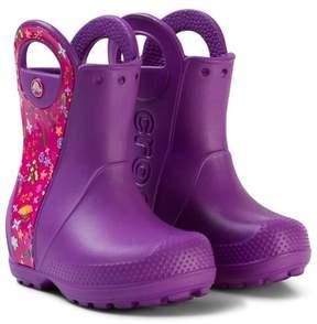 Crocs Purple Handle It Graphic Boots