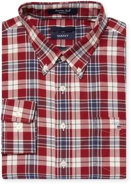 Gant Men's Plaid Cotton Button Down Sportshirt
