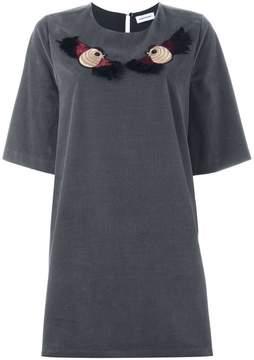 Au Jour Le Jour embroidered bird T-shirt dress