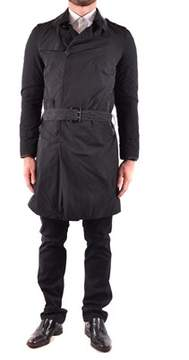 CNC Costume National Men's Black Polyester Trench Coat.
