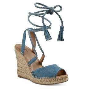 Merona Women's Maren Lace Up Wedge Espadrille Sandals