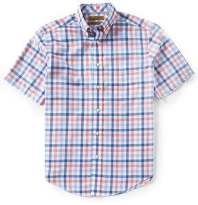 Roundtree & Yorke Gold Label Short Sleeve Gingham Dobby Non-Iron Sportshirt