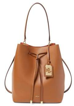 Lauren Ralph Lauren Dryden Medium Drawstring Leather Bag