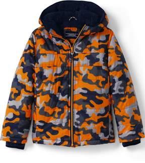 Lands' End Lands'end Little Boys Fleece Lined Printed Jacket