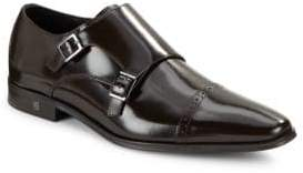 Versace Double Monk Leather Shoes