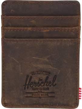 Herschel Supply Raven RFID Leather Card Holder Wallet - Men's