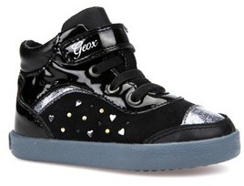 Geox Toddler Girl's Kiwi Girl Studded High Top Sneaker