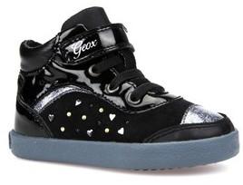 Geox Toddler Girl's Kiwi Girl Studded High Top Sneaker