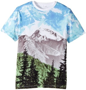 Stella McCartney Arrow Mountain Landscape Printed T-Shirt Boy's Clothing