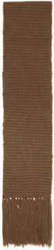 Stella McCartney Brown Knit Scarf