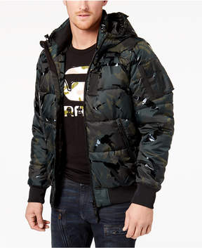 G Star Men's Hooded Camo Puffer Coat