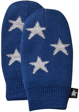 Molo Estate Blue Snowflake Mittens