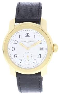 Baume & Mercier Capeland 65486 18K Yellow Gold & Leather Automatic 38mm Mens Watch
