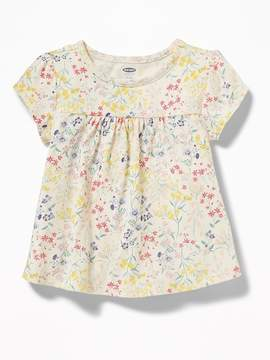 Old Navy Floral-Print Jersey Babydoll Top for Toddler Girls