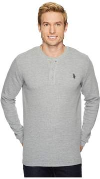 U.S. Polo Assn. Long Sleeve Thermal Henley Shirt Men's Long Sleeve Pullover