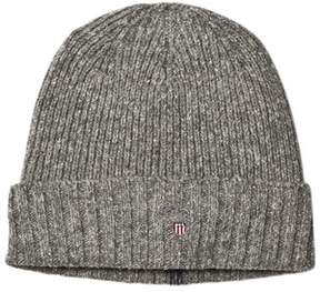 Gant Grey Fleece Lined Logo Beanie