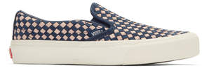 Vans Navy and Pink Taka Hayashi Edition Slip-On 66 LX Sneakers