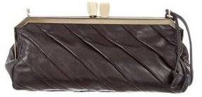 Herve Leger Leather Pleated Bag
