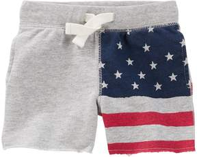 Osh Kosh Oshkosh Bgosh Baby Boy American Flag Knit Shorts