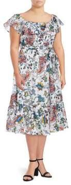 Context Plus Paisley Off-the-Shoulder Dress