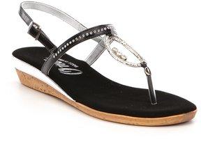 Onex Rolo Rhinestone Embellished Leather Sandals