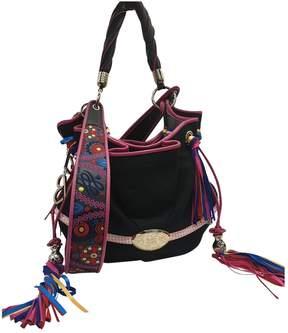 Lancel Brigitte Bardot Black Tweed Handbag