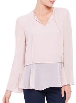 Ellen Tracy Textured Mixed Media Blouse