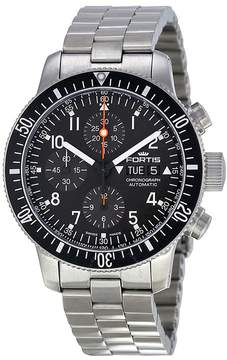 Fortis B-42 Cosmonaut Chronograph Black Dial Men's Watch 6381011M