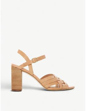 Dune Immigen woven front leather sandals