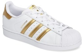 adidas Girl's Superstar J Sneaker
