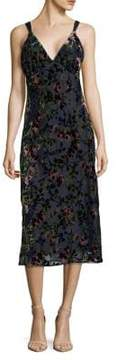 WAYF Floral Midi Dress