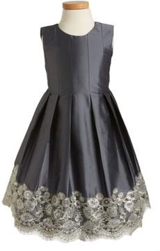 Isabel Garreton Toddler Girl's Floral Lace Pleated Dress