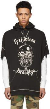 R 13 Black Beast Cut-Off Hoodie