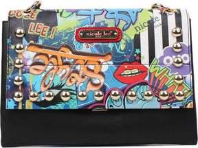 Nicole Lee Street Style Graffiti Print Cross Body Bag (Women's)