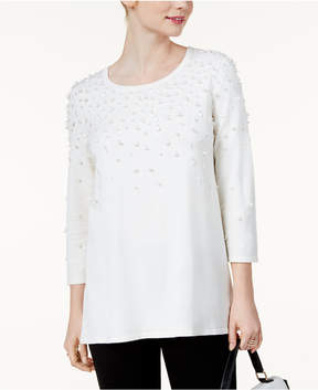 Alfani Embellished Swing Sweater, Created for Macy's