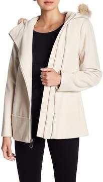Andrew Marc Hazel Genuine Fur Trim Hooded Coat
