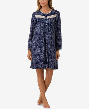 Eileen West Printed Cotton Knit Nightgown