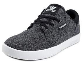Supra Yorek Low Youth Round Toe Canvas Gray Sneakers.