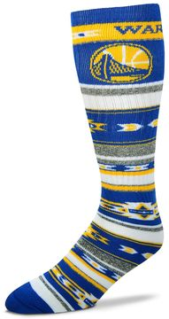 For Bare Feet Adult Golden State Warriors Tailgater Crew Socks