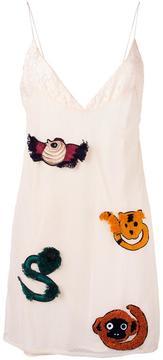 Au Jour Le Jour embroidered slip dress