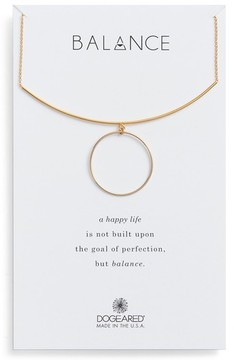 Dogeared Women's Balance Bar & Ring Pendant Necklace