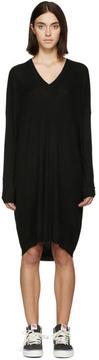 6397 Black Merino Ribbed Dress