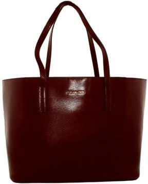 Michael Kors Women's Large Emry Leather Shoulder Bag Tote - Plum - PLUM - STYLE