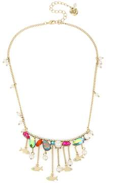 Betsey Johnson CRABBY COUTURE FISH FRONTAL NECKLACE