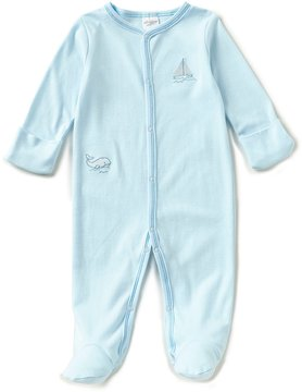 Starting Out Baby Boys Preemie-6 Months Sailboat-Embroidered Footed Coverall